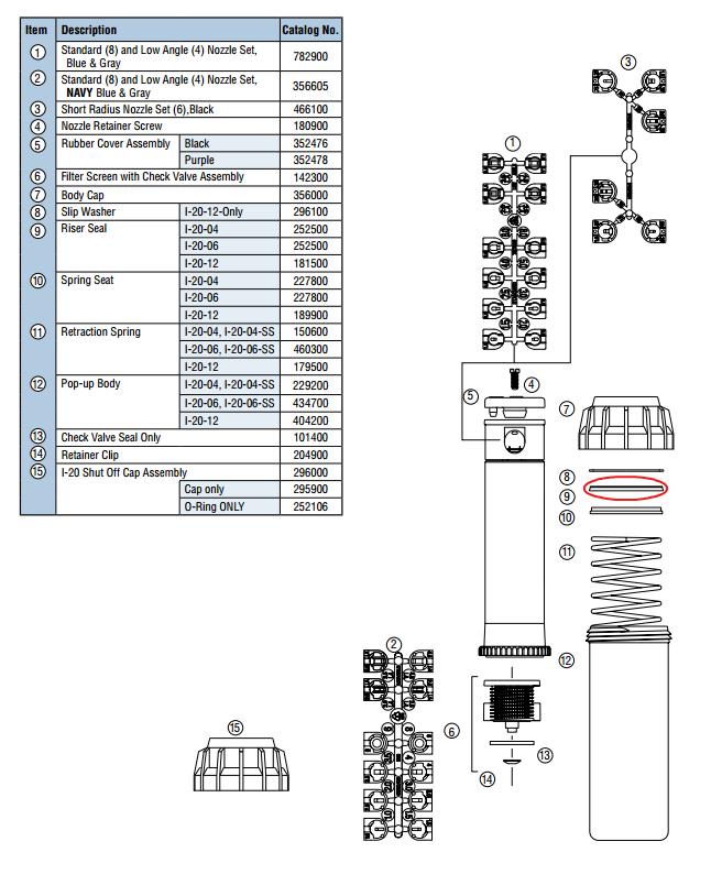 I-20-04-NCV Hunter I-20 4 Rotor No Check Valve