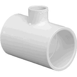 401-101 - PVC Reducing Tee 3/4 x 3/4 x 1/2 (SxSxS)