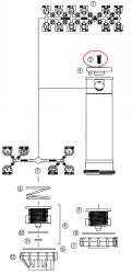 Hunter 180900 PGP-00 Nozzle Retainer Screw - Headed w/ Slot