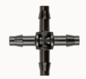 "Hunter QB-CRS 1/4"" Barb Fittings - Cross"