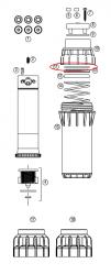Hunter 221800 I-25-04, I-25-06 Riser Seal Slip Washer (Black before 12/01/2013)