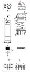 Hunter 252855 I-40-04, I-40-06 Feature Designation Button (HS)