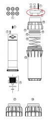 Hunter 345005 I-40-04, I-40-06 Rubber Cover Assembly (Black)