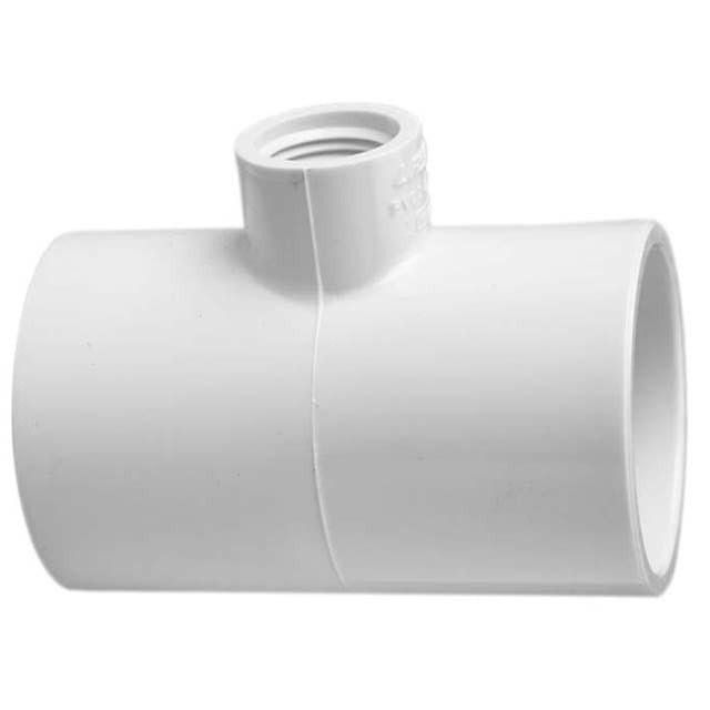 "402-130 - PVC Reducing Tee 1"" x 1"" x 1/2"" (SxSxT)"