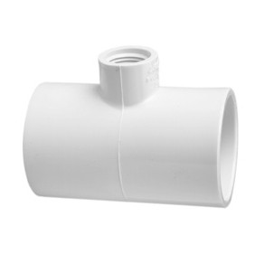 "402-101 - PVC Reducing Tee 3/4"" x 3/4"" x 1/2"" (SxSxT)"
