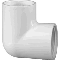 "407-130 - PVC 90&deg Reducing Elbow 1"" x 1/2"", (SxT)"