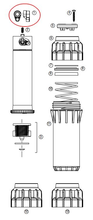Hunter 463402 I-25-04, I-25-06 Nozzle Pack (#5 – White) (Bag of 25)