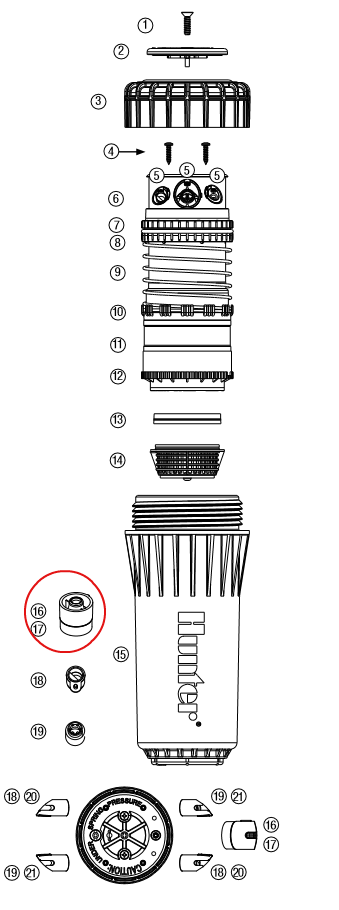 Hunter 464366 I-90 Primary Nozzles (Bag of 25) (#48 – Dk. Green)