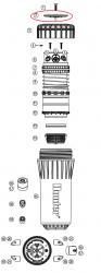 Hunter 528900 I-90 Rubber Cover Assembly (36V (Black))