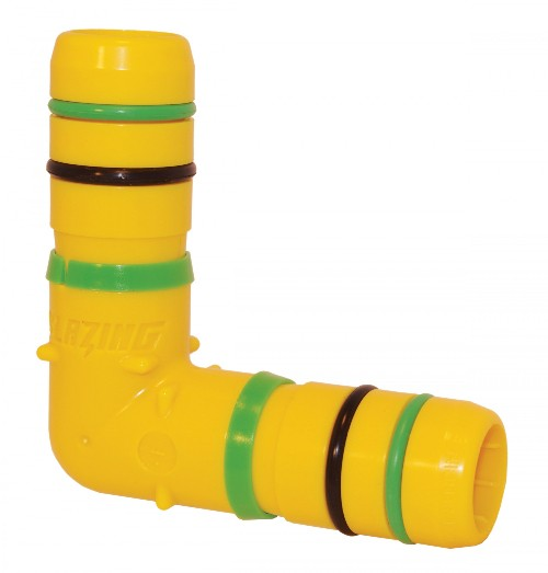 "Blazing Products BLZ1406-010 1"" Clampless Poly 90 Degree Elbow"