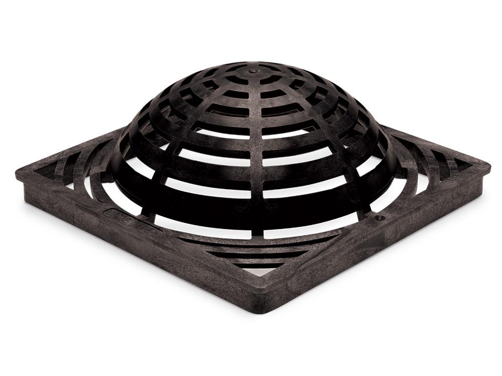 """Rain Bird DG12SAB 12"""" Square Atrium  Drainage Grate -  Black"""