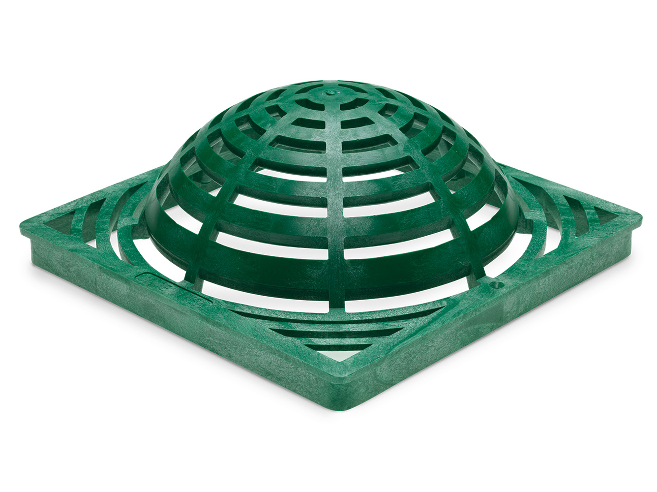"""Rain Bird DG12SAG 12"""" Square Atrium  Drainage Grate -  Green"""