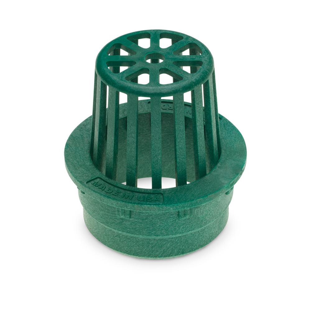 "Rain Bird DG3RAG 3"" Round Atrium Drainage Grate - Green"