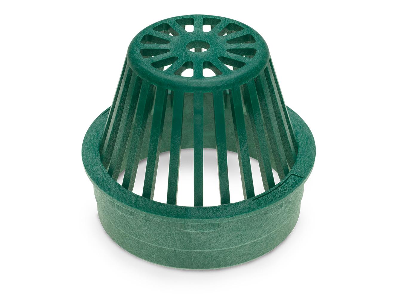 "Rain Bird DG6RAG 6"" Round Atrium Drainage Grate - Green"