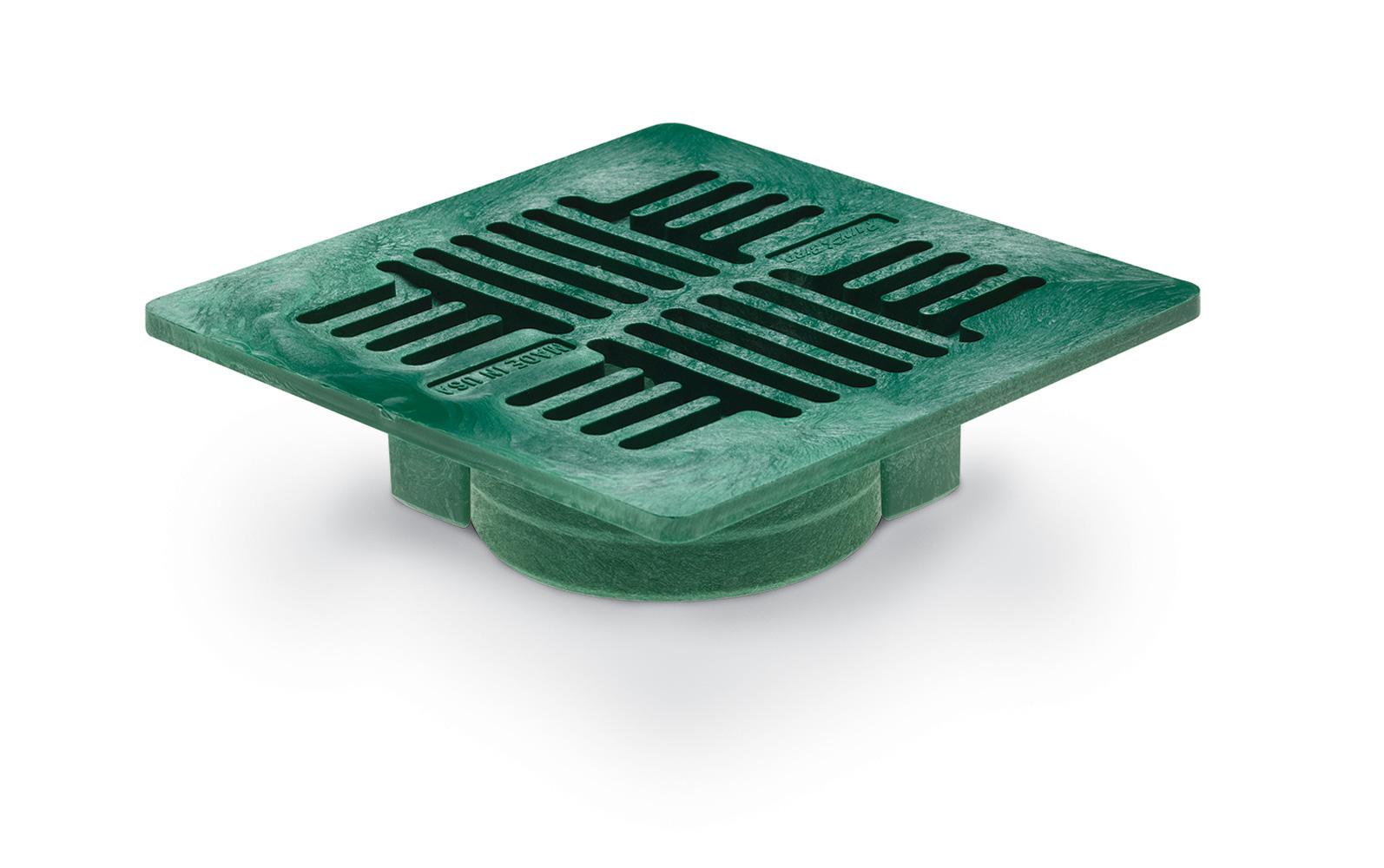 "Rain Bird DG7USG 7"" Universal Square Flat  Drainage Grate -  Green"