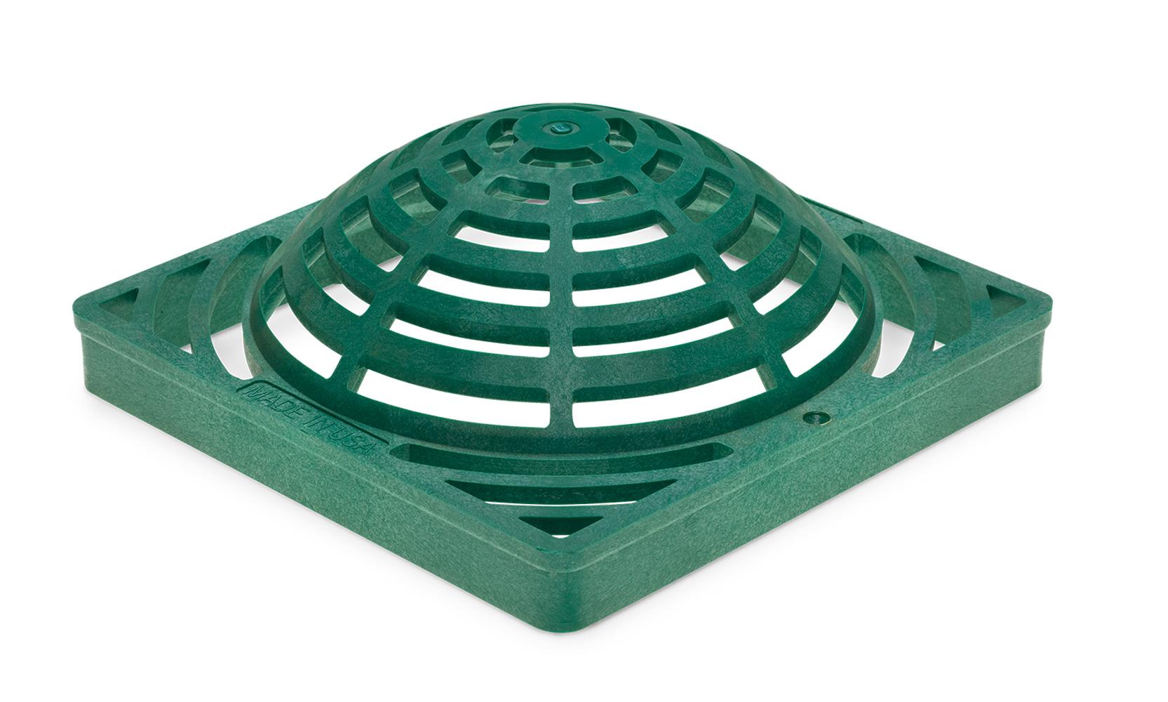 """Rain Bird DG9SAG 9"""" Square Atrium  Drainage Grate -  Green"""