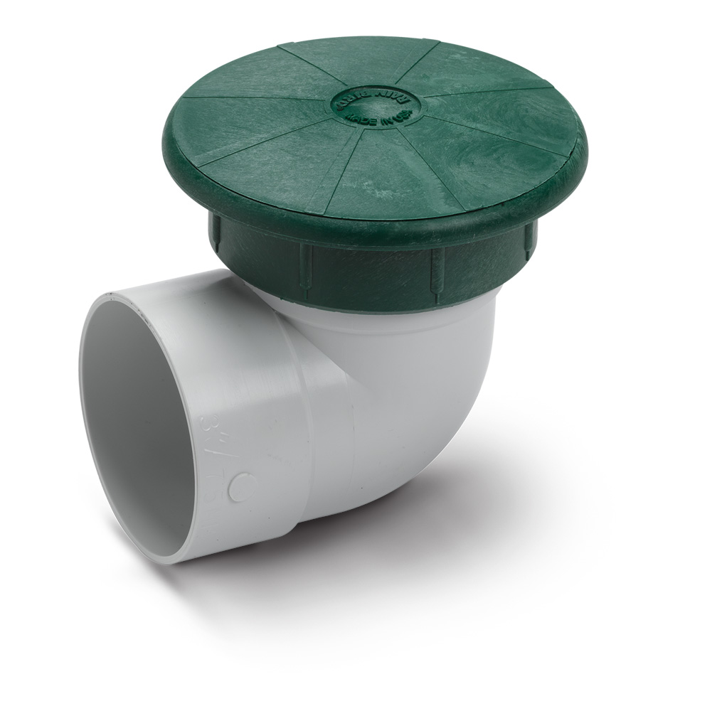 "Drainage Pop-Up Valve with 4"" PVC Elbow"