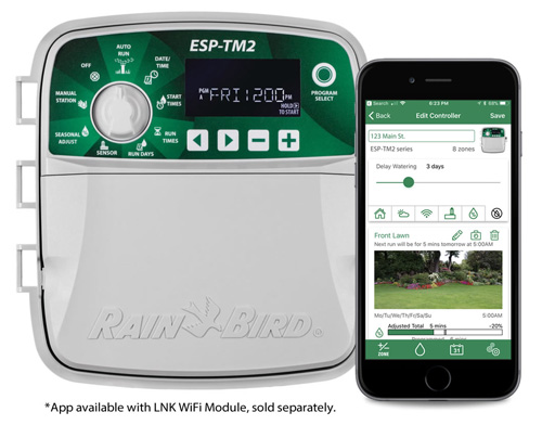 Rain Bird TM2-8-120V 8-Station Wifi Ready Sprinkler Controller