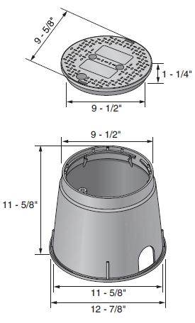 "NDS 10"" Round Irrigation Valve Box"