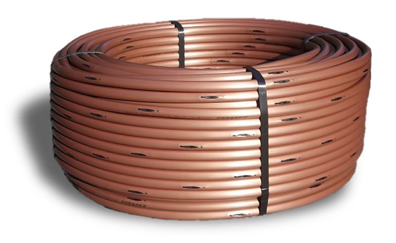 Rain Bird XFS-CVP-09-18-500 Dripline w/Copper Shield - 0.9 GPH, 18 in. Spacing, 500ft Coil