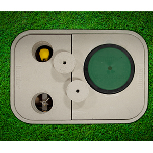 Hunter ST-173026B Vault with 3-piece polymer-concrete cover
