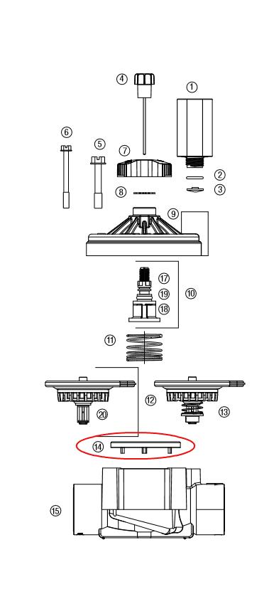 "Hunter 365900 ICV-101G, 151G, 201G Diaphragm Support Ring (1.5"" & 2"")"
