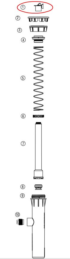 Hunter 423900 PROS-02, 03, 04, 06, 12 Flush Cap (Gray)