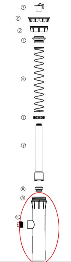 "Hunter 458800 PROS-02, 03, 04, 06, 12 Body (6"" w/ Side Inlet)"
