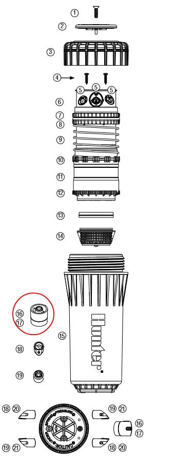 Hunter 464368 I-90 Primary Nozzles (Bag of 25) (#63 – Black)