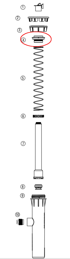 Hunter 472300 PROS-02, 03, 04, 06, 12 Riser Seal