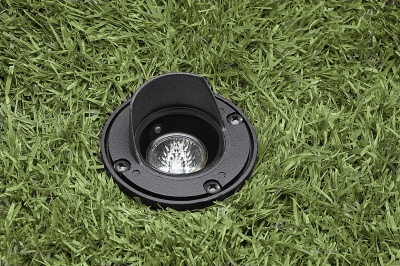 Vista 5261 In-Ground and Well Light 12 Volt Series (50W) - Aluminum with Glare Shield