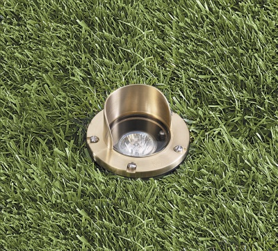 Vista 5275 In-Ground and Well Light 12 Volt Series (50W) - Solid Trim with Glare Shield
