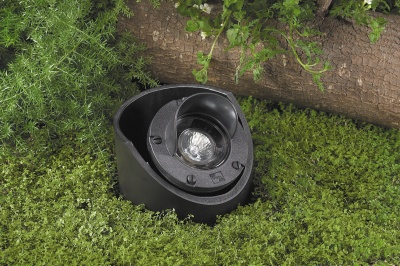 Vista 5280 In-Ground and Well Light 12 Volt Series (50W) - Composite Well Light with Glare Shield