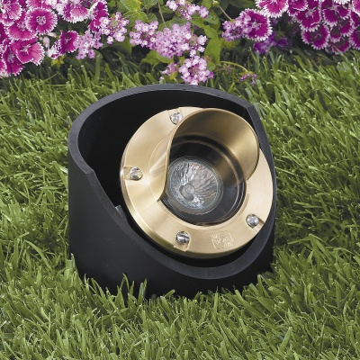 Vista 5284 In-Ground and Well Light 12 Volt Series (50W) - Solid Trim Well Light with Glare Shield