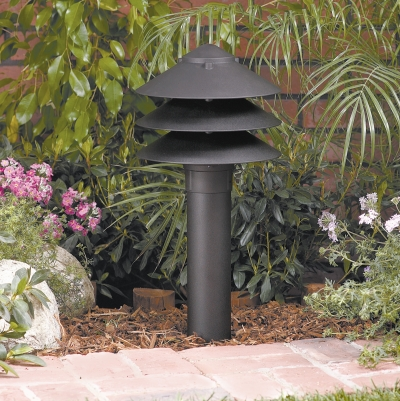 "Vista 9223 Bollard and Beacon Light 12 Volt Series (20W) - Aluminum 19 3/4"" High Bollard"
