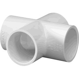 "420-010 - PVC Cross 1"", Slip"