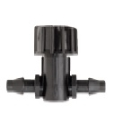 "Netafim EDTUBEMVLV-B 1/4"" Line End Shut-off Valve - 5mm (1/4"") Barb x Barb On-Off - Bag of 10"