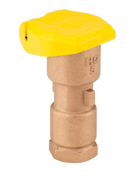 "Hunter HQ5RC Quick Coupler Valve: 1"" inlet with 1-1/4"" outlet for key"