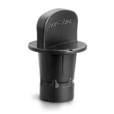 RainBird MDCFCAP Easy Fit Compression System Flush Cap Black Adapter - Bag of 20
