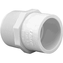 "436-212 - PVC Male Adapter 1 1/4"" x 1 1/2"" (SxM)"