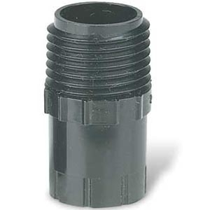 "Rainbird PA-80 Plastic Adapter Converts Pop-up Stem to 1/2"" (15/21) Male Pipe Thread"
