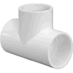 """401-025 - PVC Tee 2 1/2"""" x 2 1/2"""" x 2 1/2"""" (SxSxS)"""