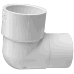 "406-130 - PVC 90&deg Reducing Elbow 1"" x 1/2"", (SxS)"