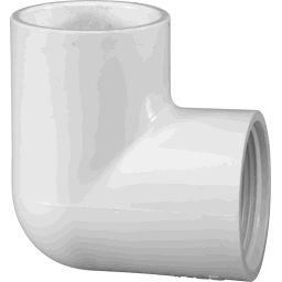 """407-010 - PVC 90&deg Elbow 1"""" x 1"""" (SxT)"""