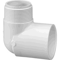 "410-012 - PVC Street Elbow 1 1/4"" x 1 1/4"" (SxM)"
