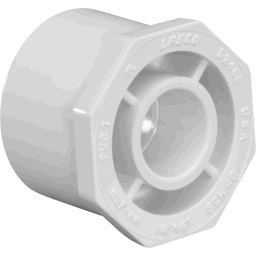 "437-167 - PVC Reducing Bushing 1 1/4"" x 3/4"" (Spigot x Socket)"