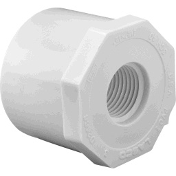 "438-130 - PVC Reducing Bushing 1"" x 1/2"" (Spigot x Fipt)"