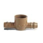 "Netafim TL075FTEE 17mm Combination Tee - Insert x Insert x 3/4"" Female Pipe Thread - Bag of 10 (CLON)"