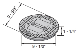 """NDS 10"""" Round Irrigation Valve Box Lid Cover"""