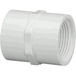 "430-005 - PVC Threaded Couplings 1/2"" x 1/2"" (FxF)"